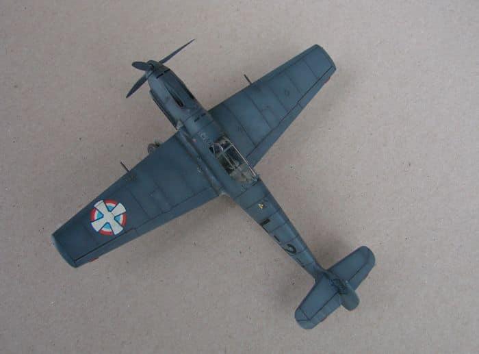 Bf-109E-3VVKJ, Tamiya, 1/72 DSC03069