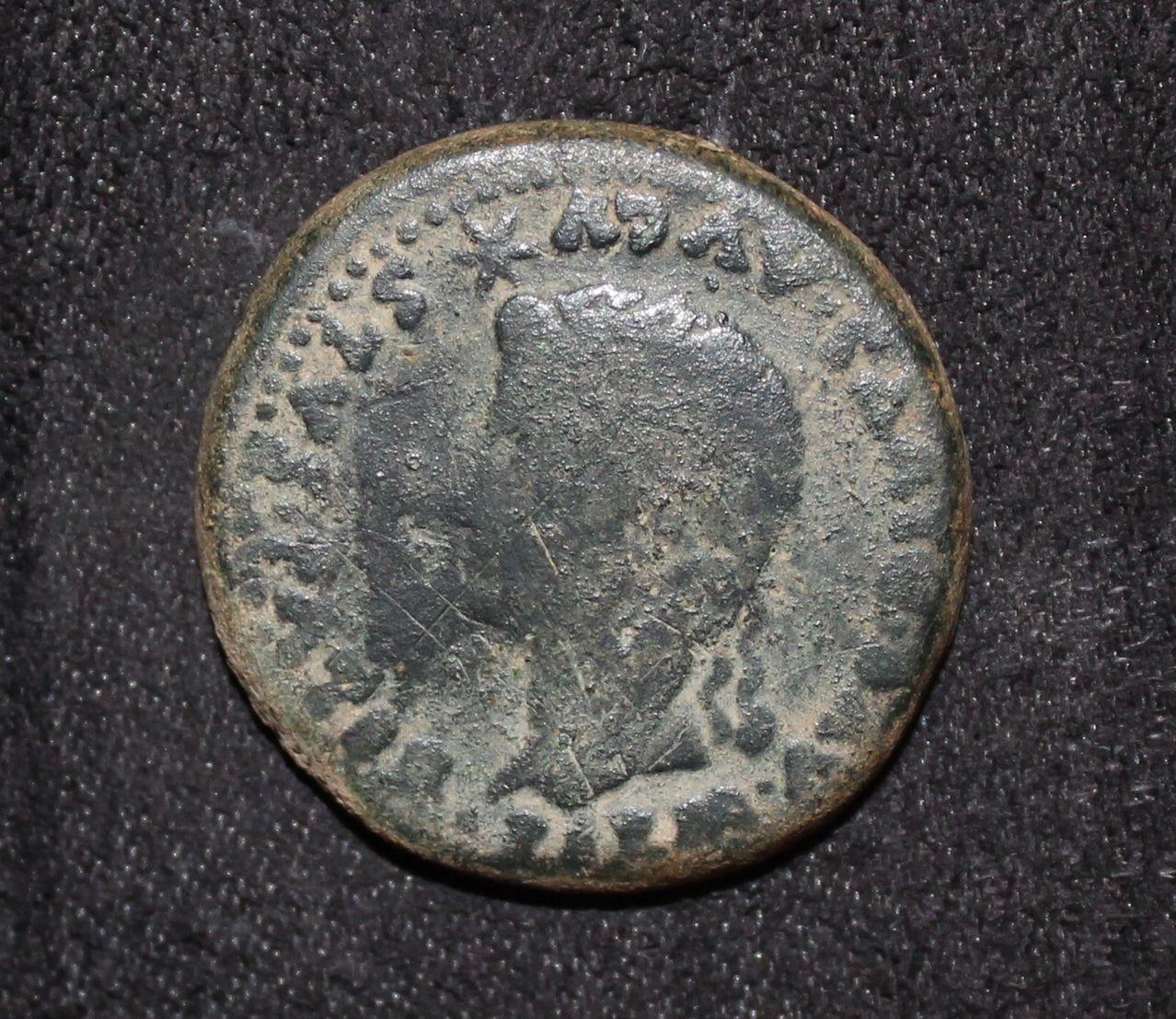 Dupondio de Itálica. Divo Augusto y Livia, por Tiberio. IMG_8747