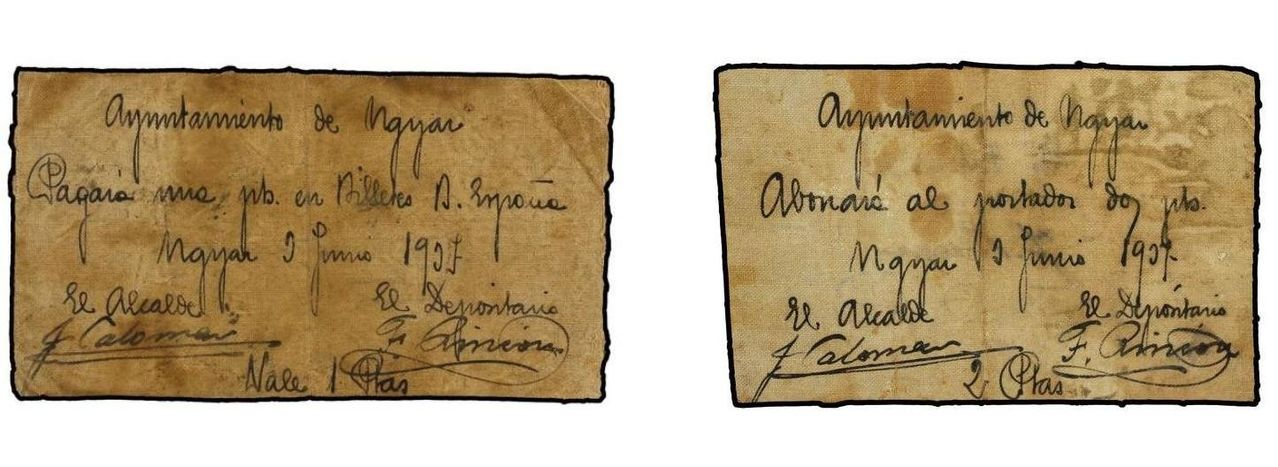 1 Peseta Ugíjar, 1937 1183678la