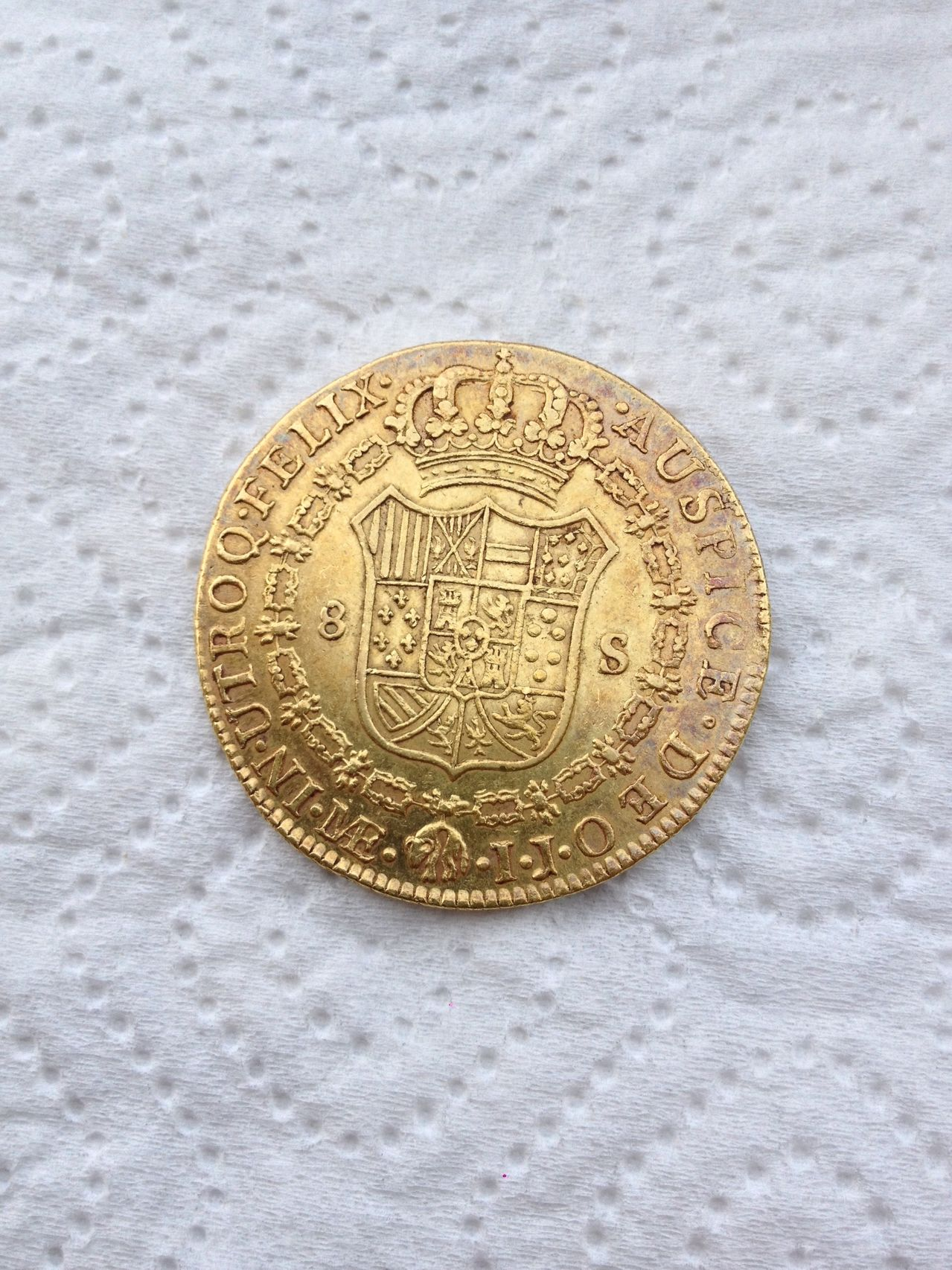 8 Escudos Carlos IV 1798 Lima IJ Photo_2