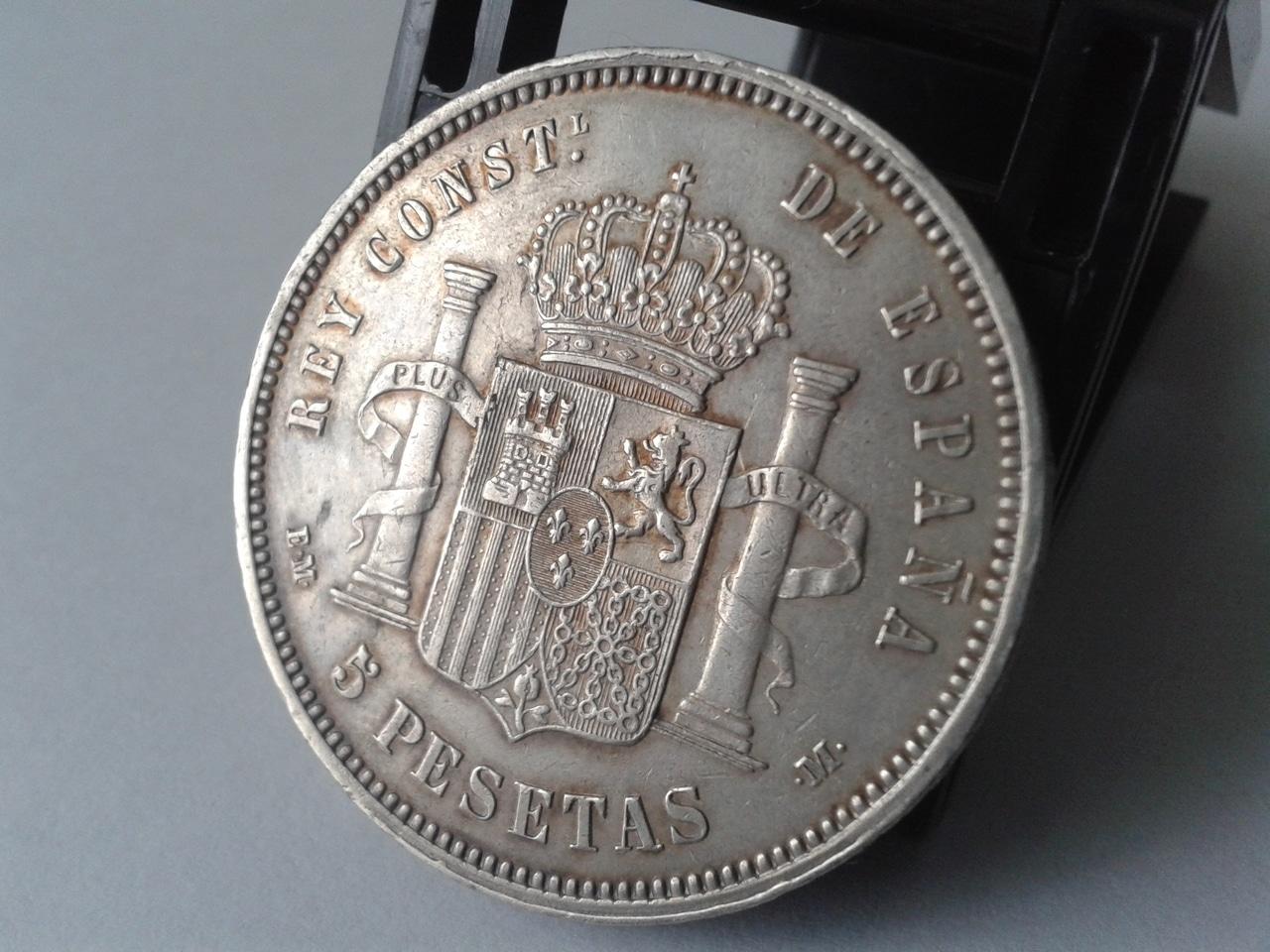 5 pesetas 1879 - Alfonso XII 20141019_161520