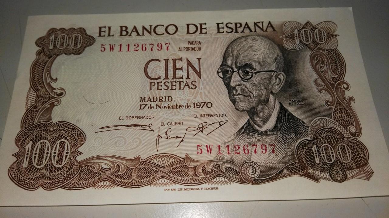 billetes de 100 pesetas 1970 IMG_20170113_200232