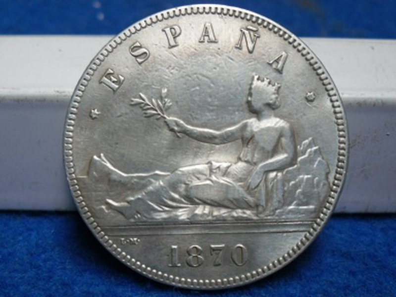 5 pesetas  1870. (*18 *70). Gobierno Provisional. SAM_2763