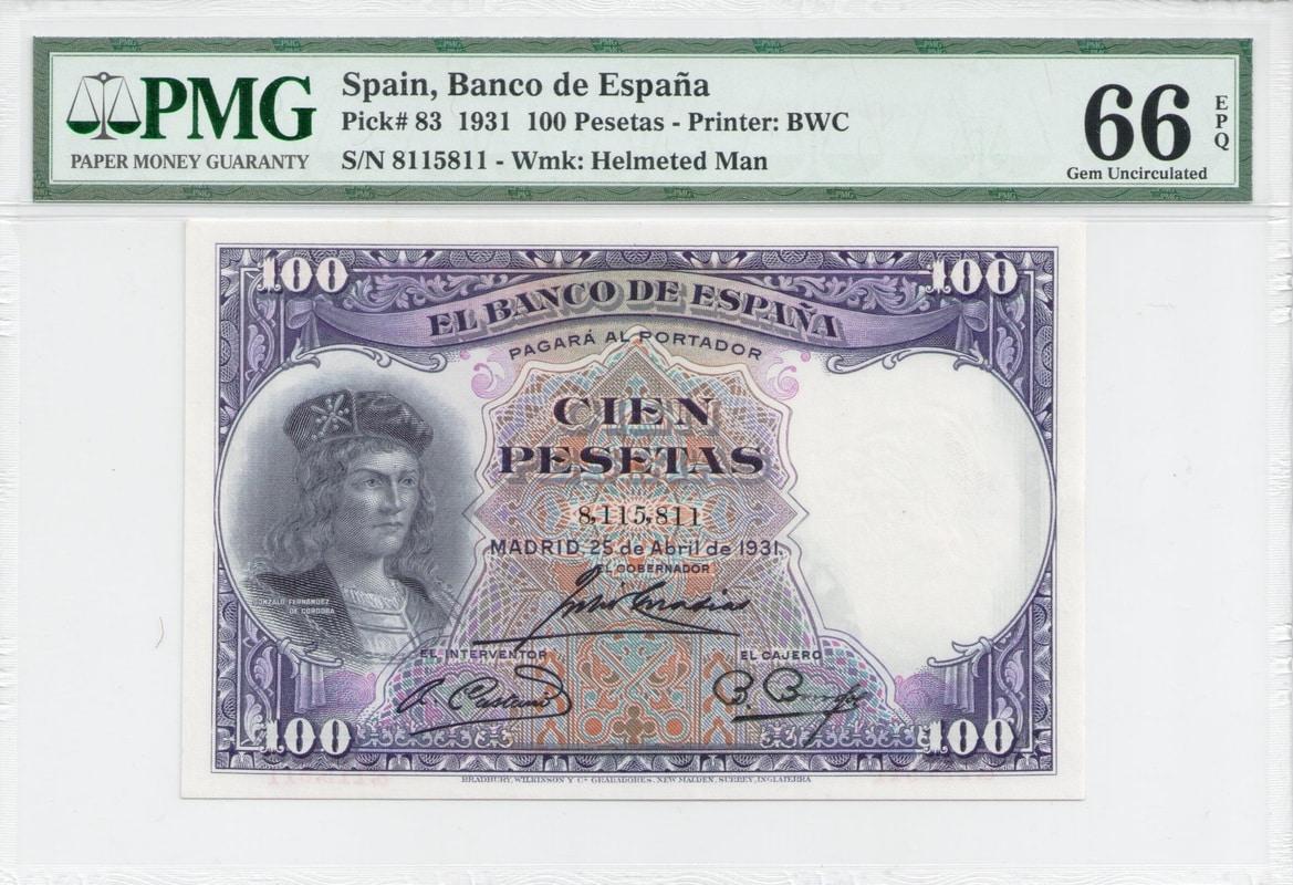 Colección de billetes españoles, sin serie o serie A de Sefcor - Página 3 100_del_31_anverso