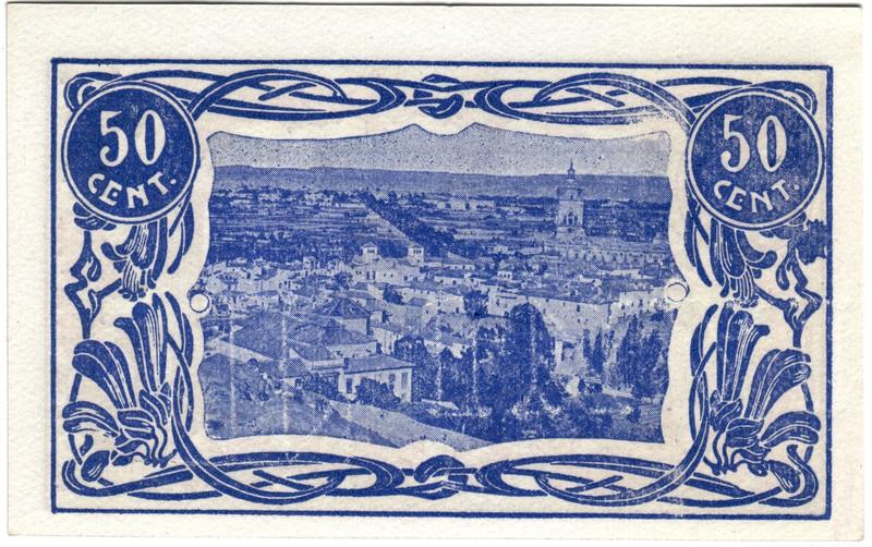 50 Céntimos Guadix. 1838 - 1938 (Primera guerra Carlista) Guadix3