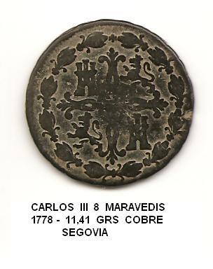 8 maravedís de Carlos III año 1778 Image
