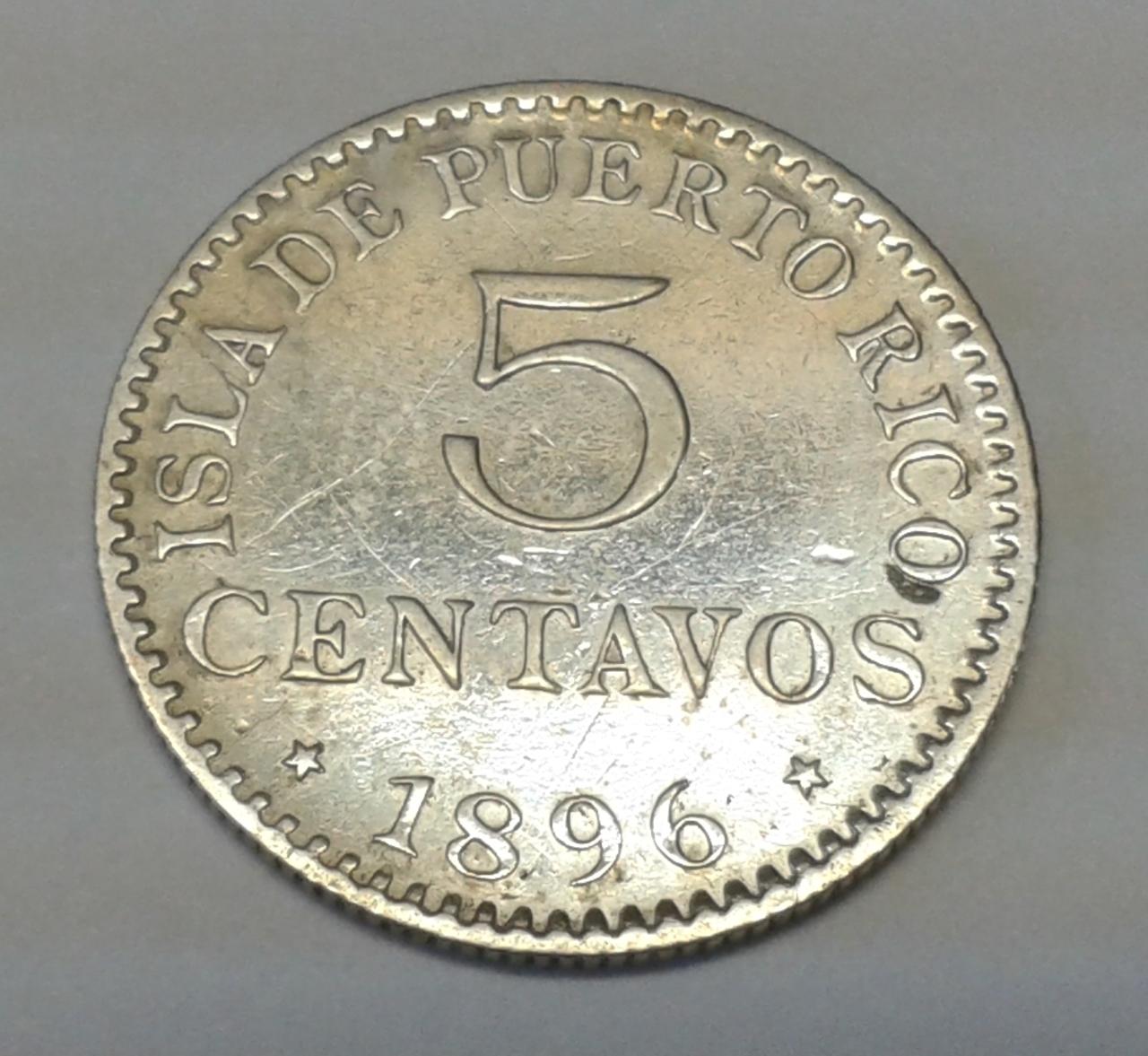 5 Centavos 1896 Puerto Rico - Alfonso XIII 20141025_142605