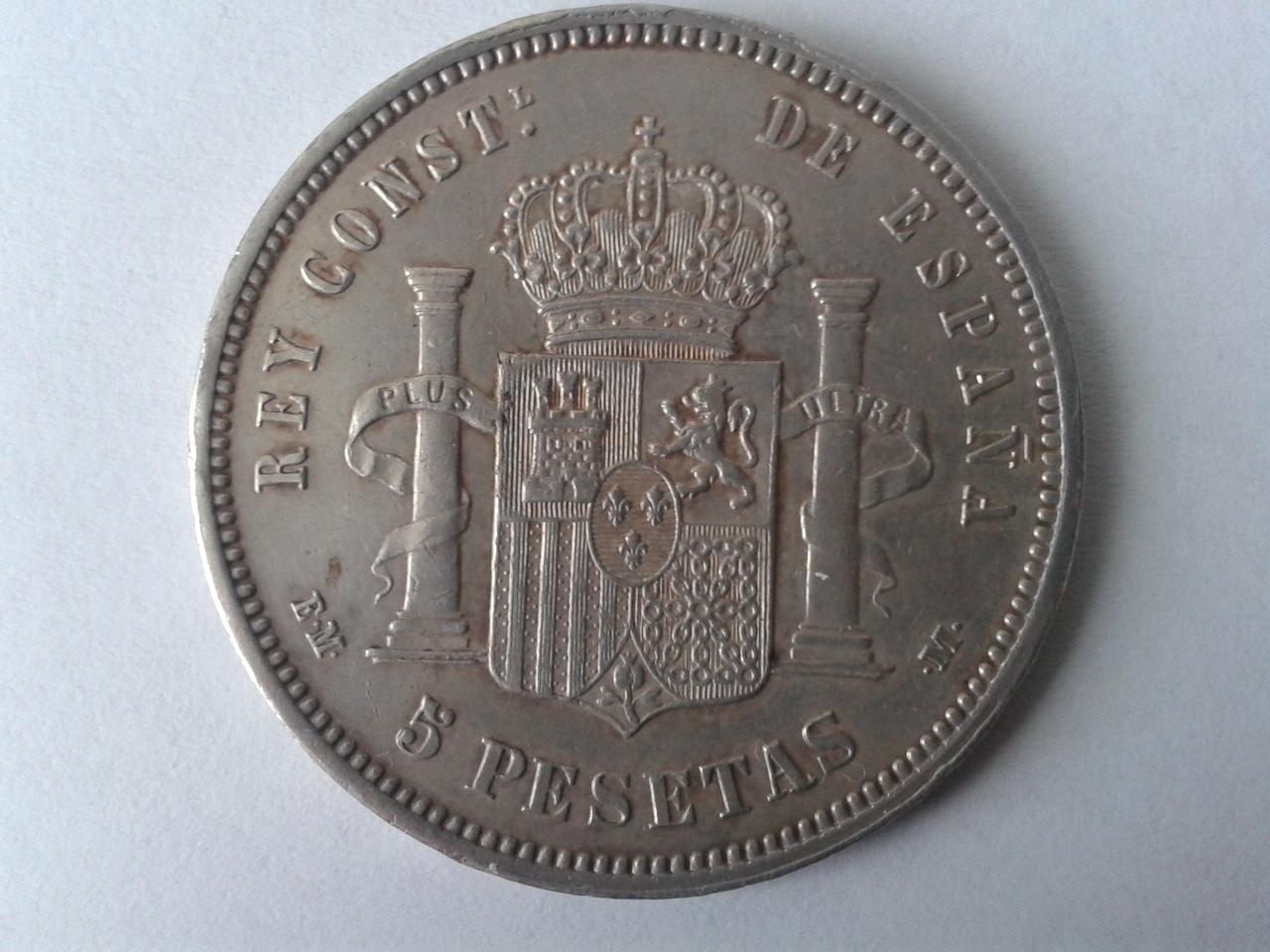 5 pesetas 1879 - Alfonso XII 20141019_161402