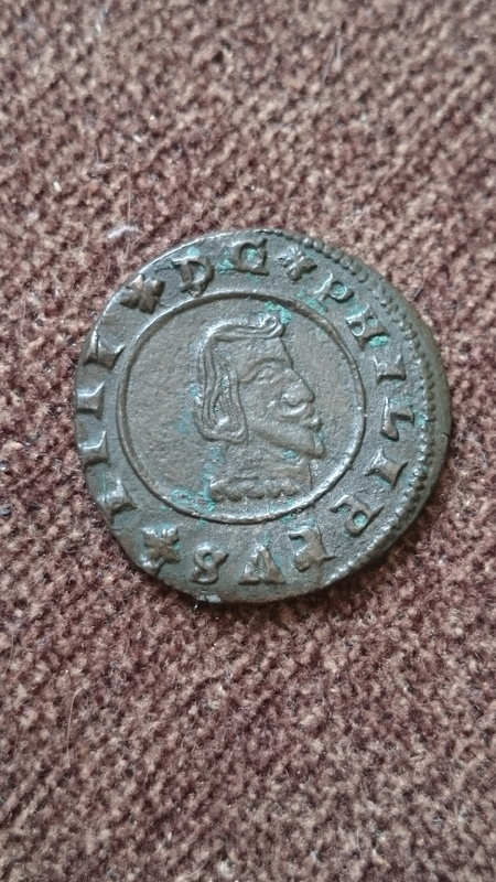16 maravedís Felipe IV 1664 ceca Granada.  DSC_0246