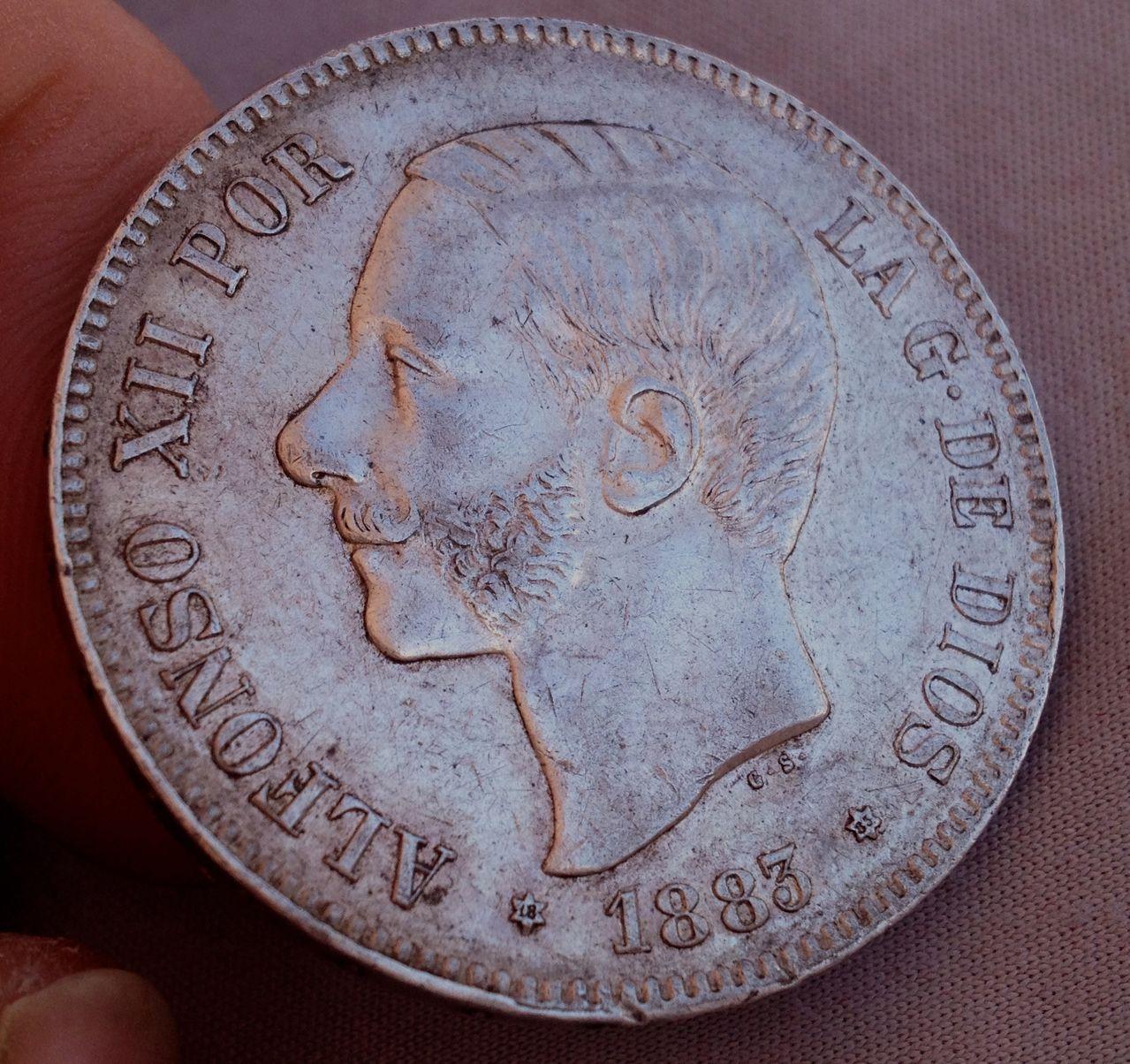 5 pesetas 1883 MS M Alfonso XII IMG_4727