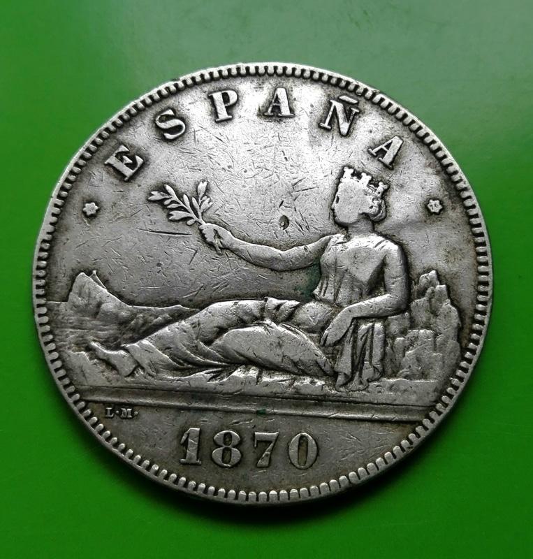 5 pesetas 1870. Gobierno Provisional IMG_20161210_135139