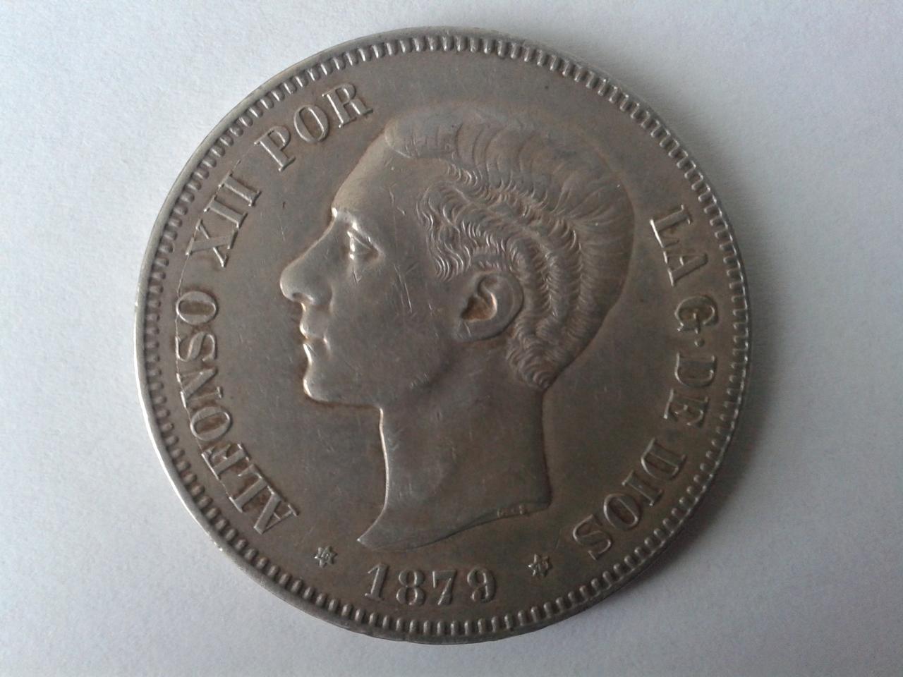 5 pesetas 1879 - Alfonso XII 20141019_161330