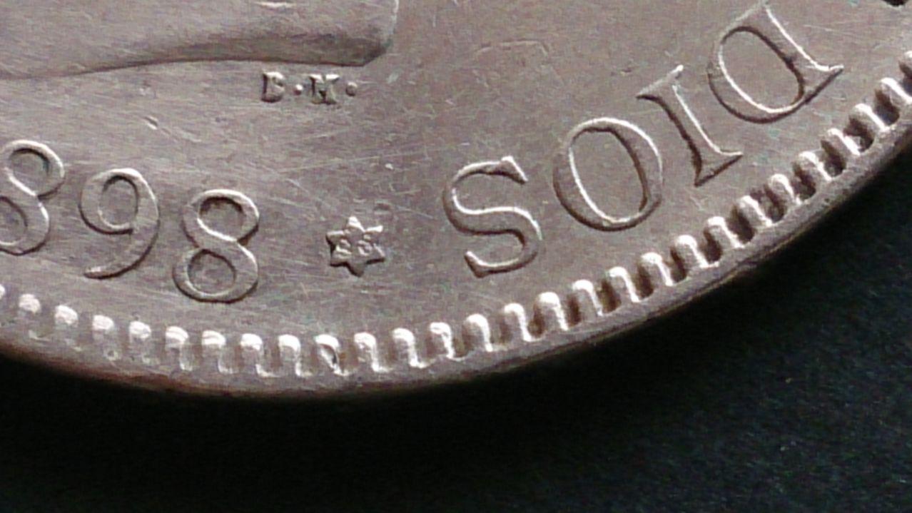 5 pesetas Alfonso XIII 1898 18*98 SGV DSC_0405