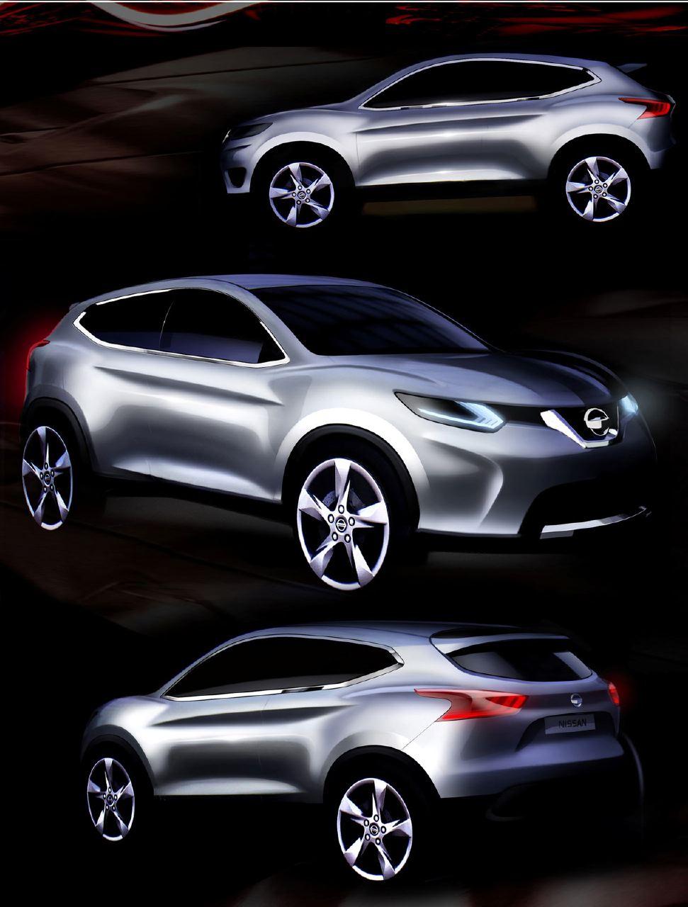 [Présentation] Le design par Nissan / Infiniti Nissan_qashqai_sketch_07