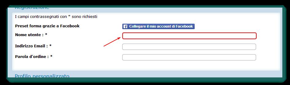 Cerchiatura rossa - Form di registrazione Screenshot_202