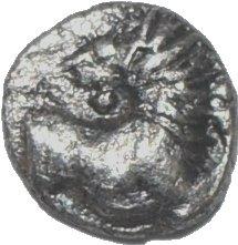 Tracia, Chersonesos . Hemiobolo (raro). 500 a.C. 240a