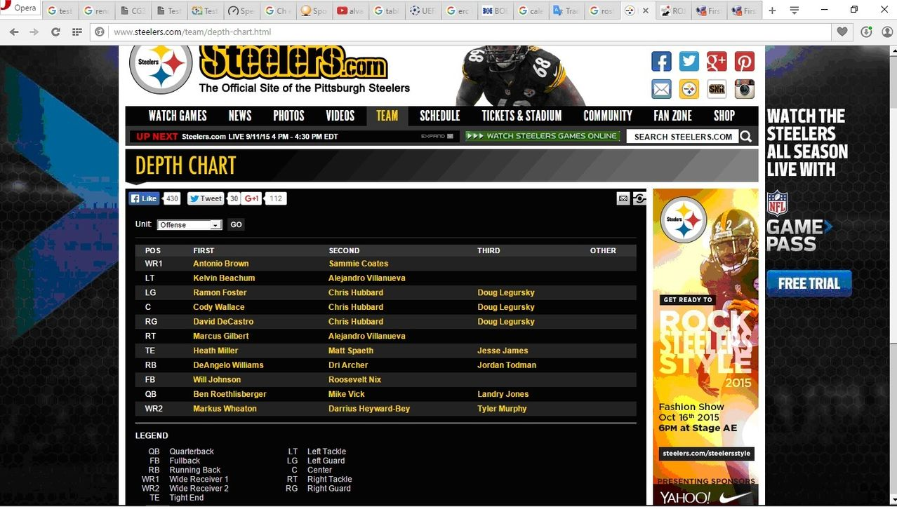 NFL PLAYERS Depth_Chart_Steelers