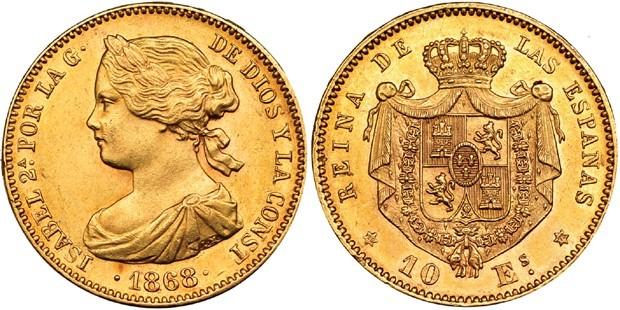 10 escudos 1868*1873 1586148l