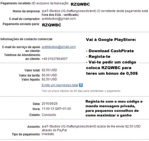 CashPirate - Primeira Prova de Pagamento Screenshot_1