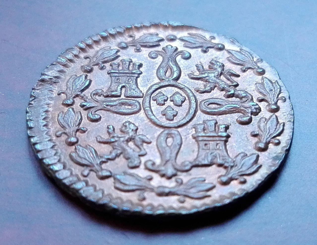 2 maravedís 1830, Segovia. Fernando VII 2_maravedis_1830_4