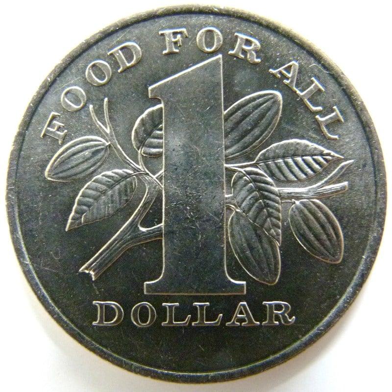 1 Dólar. Trinidad y Tobago (1979) TYT_1_D_lar_FAO_rev