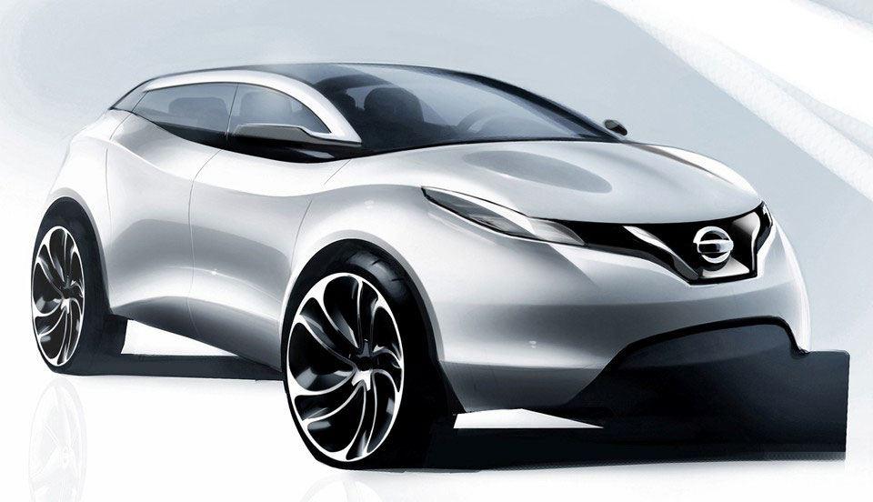 [Présentation] Le design par Nissan / Infiniti Nissan_qashqai_sketch_10