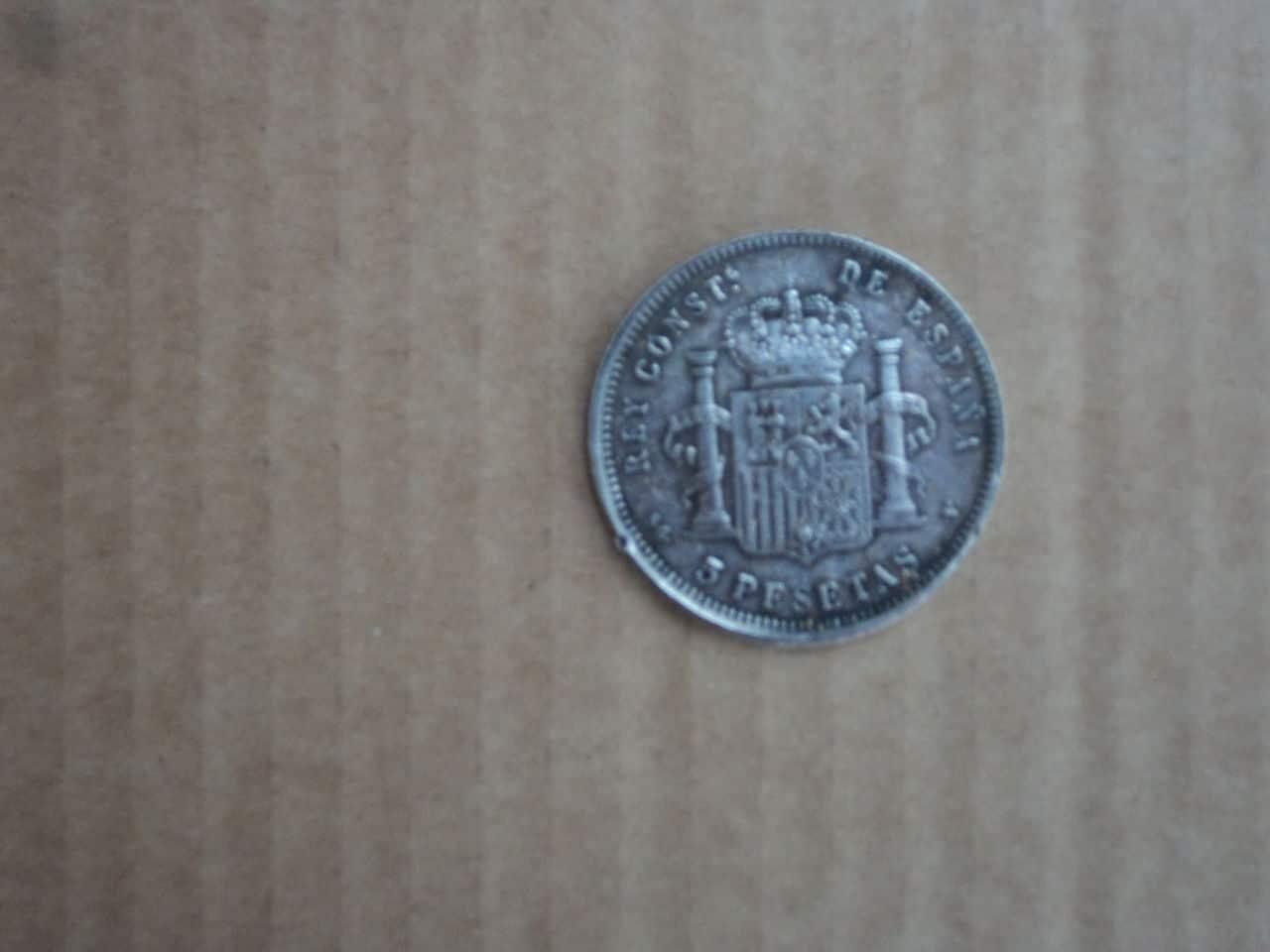 Alfonso  XIII -1898 - 5 ptas Monedas_003