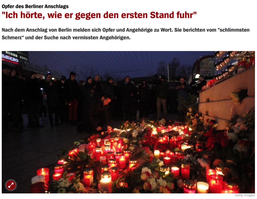 """Truck Attack – """"Anschlag"""" in Berliner Weihnachtsmarkt B001"""