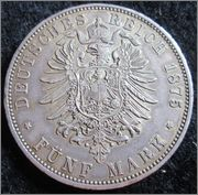 5 Mark. Alemania, Estado de Baviera. 1875. Munich IMG_1607
