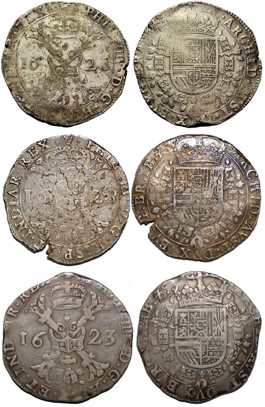 Patagón de 1623. Felipe IV acuñado en Amberes. Dedicado a Lanzarote. Patagon_1623_Felipe_IV