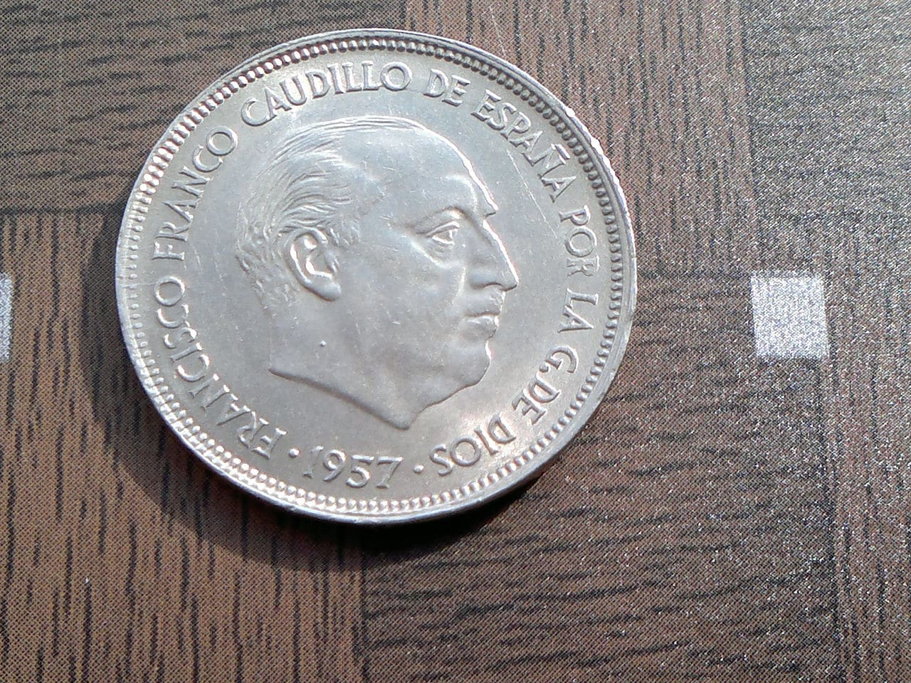 25 pesetas 1957 Estado Español 2014_01_30_2696