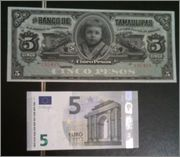 5 Pesos México, 1914 (Banco de Tamaulipas) Chamaquita3
