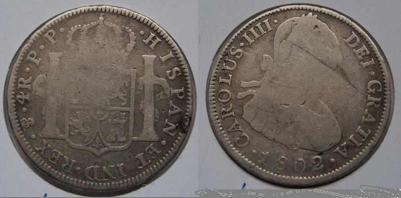 4 reales 1802 Carolus IIII - Potosi 57_7