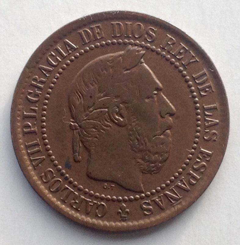 5 céntimos 1875. Carlos VII. Oñate IMG_3420