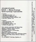 Baja Mali Knindza - Diskografija Baja_91z