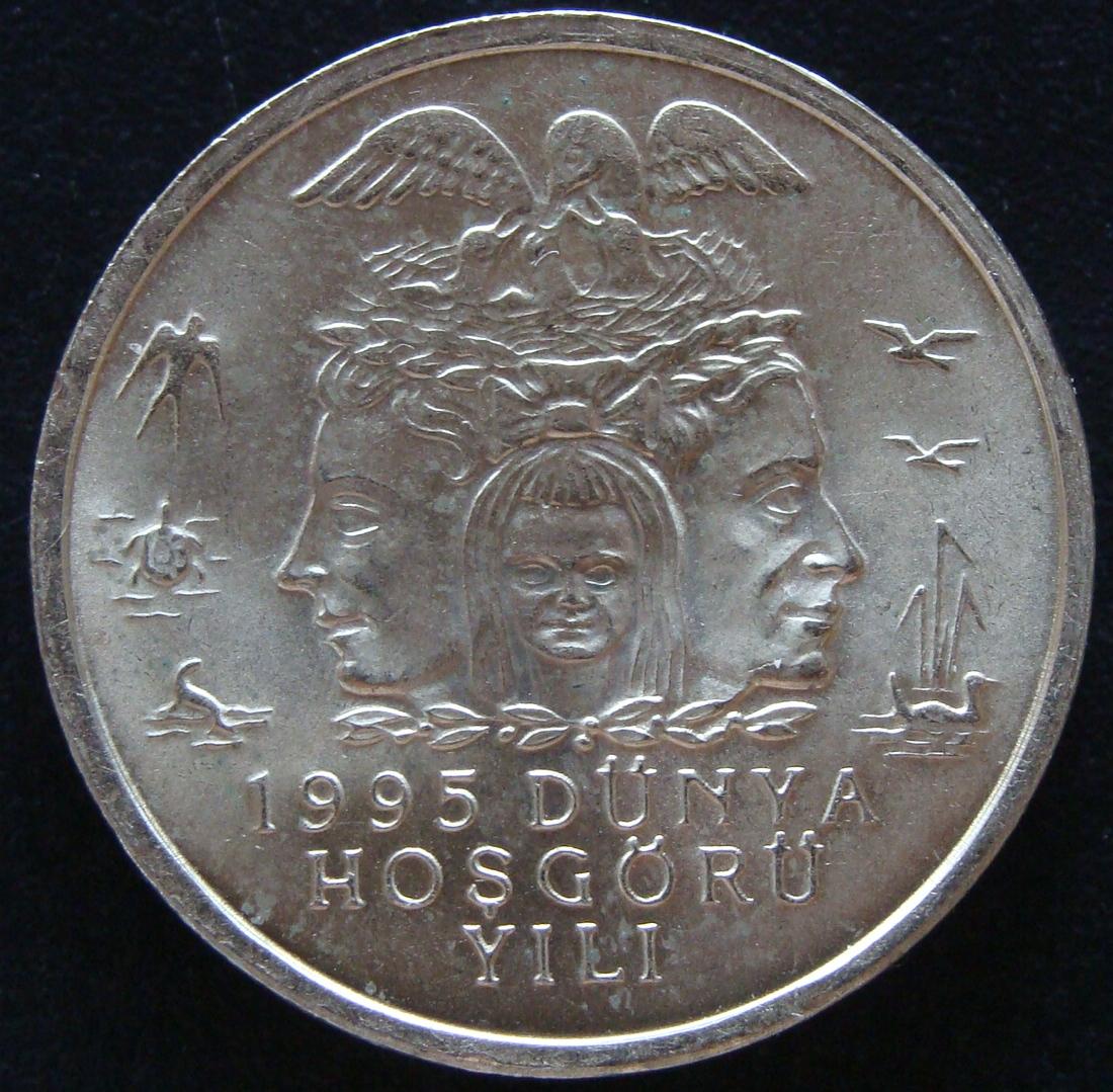 25000 Liras. Turquía (1995) TUR_25000_Liras_Protecci_n_mediambiental_re