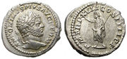 Denario de Caracalla. P M TR P XVII COS IIII P P. Serapis estante a izq. Ceca Roma. IMG_2226