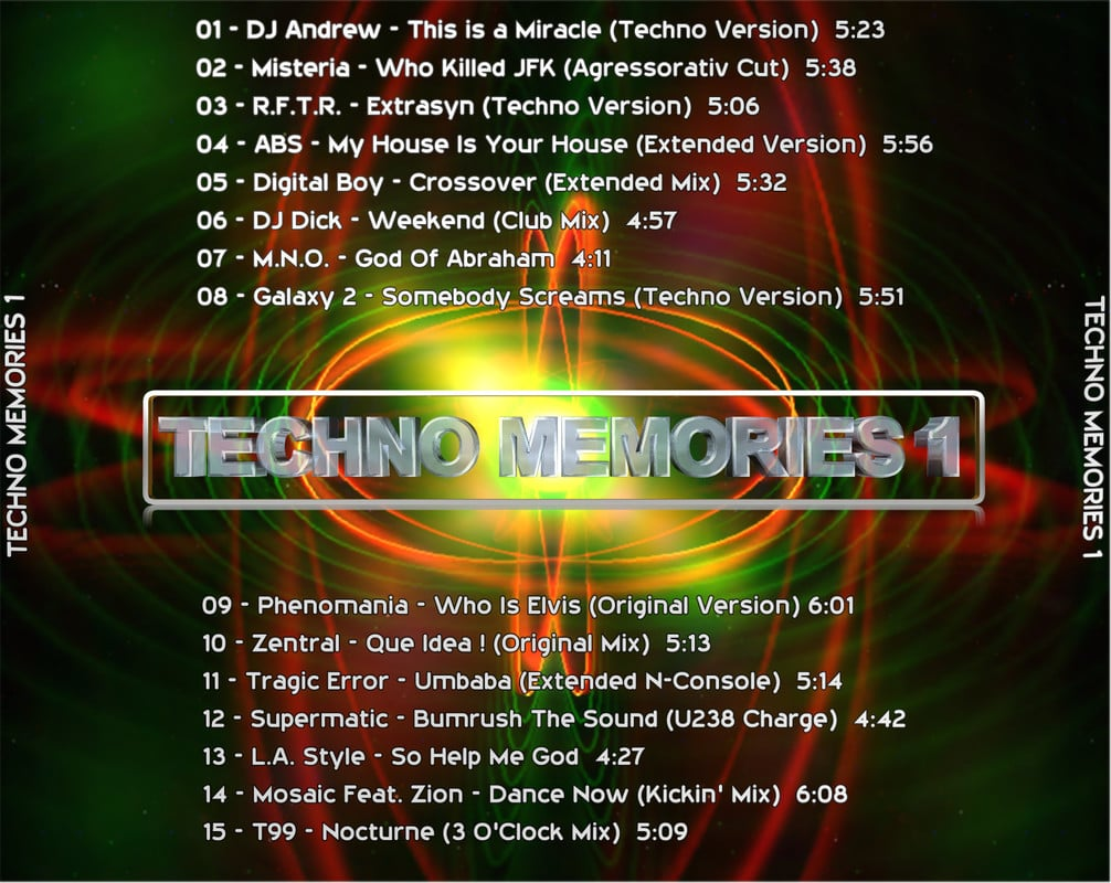 [Techno] Techno Memories 1 (Exclusive) - 2017 - FLAC Techno_Memories_Back