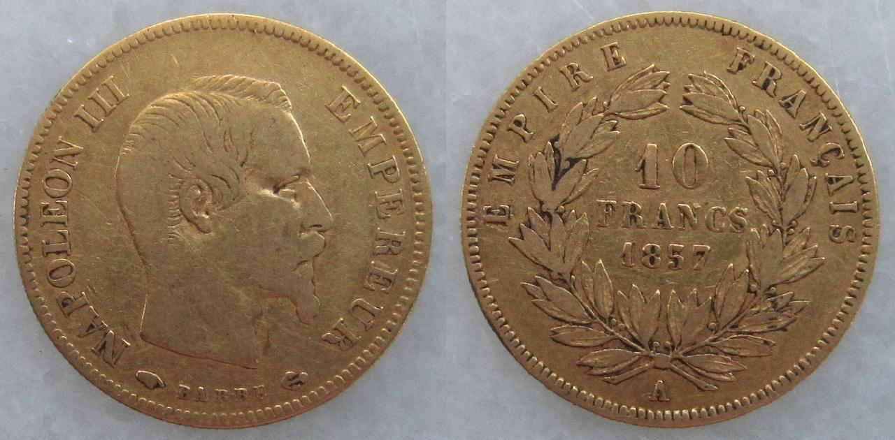 10 francos 1857. Francia. Napoleón III 10_francos_1857_Francia_Napole_n_III