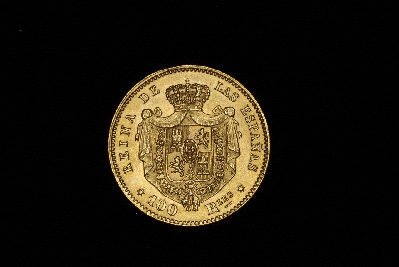 100 reales 1864 Isabel II Madrid Image