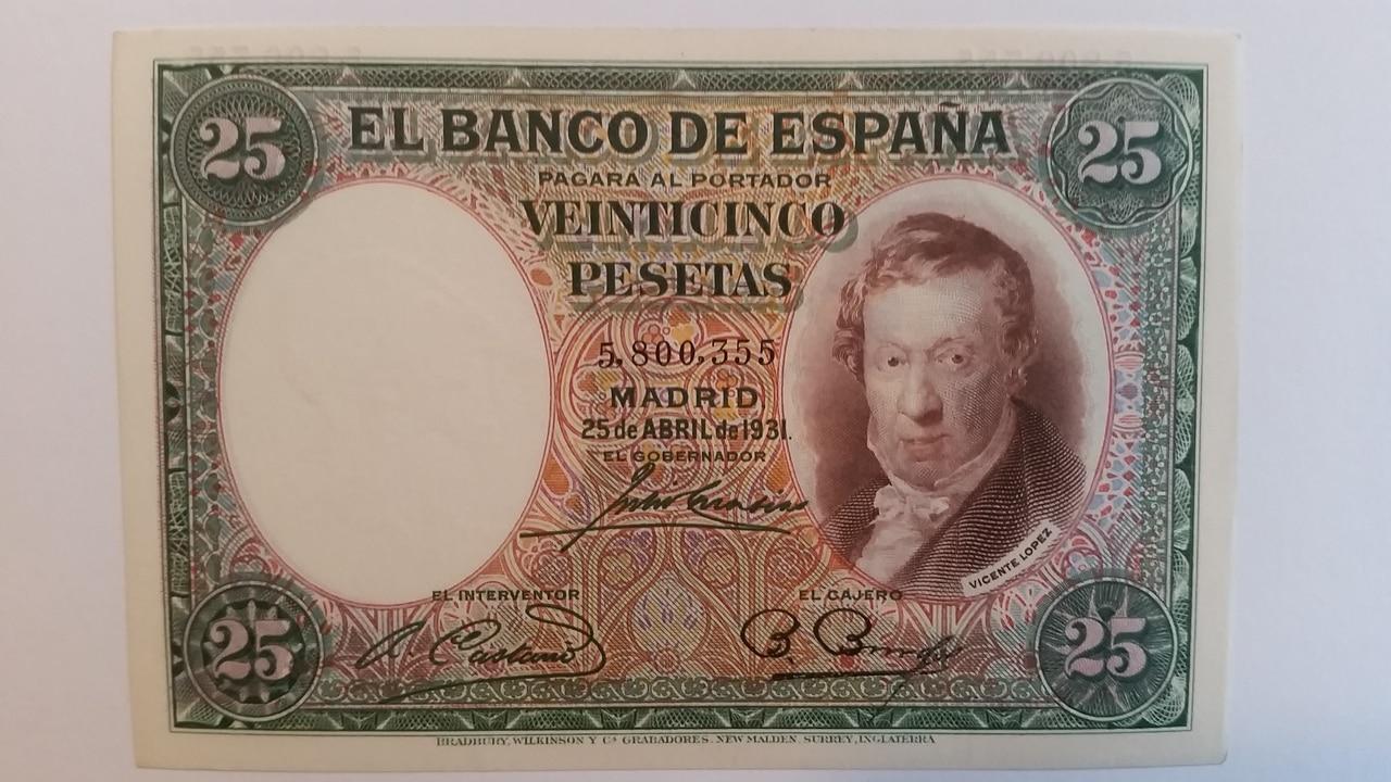 Colección de billetes españoles, sin serie o serie A de Sefcor pendientes de graduar 20161217_115631