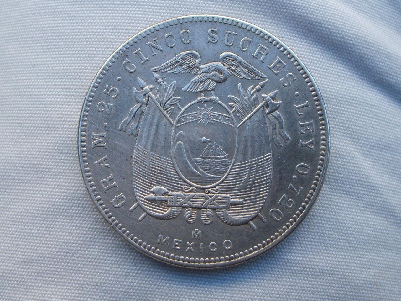 5 Sucres. Ecuador. 1943 Mexicana_1