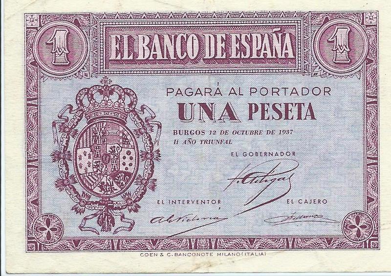 1 Peseta 1937 Image