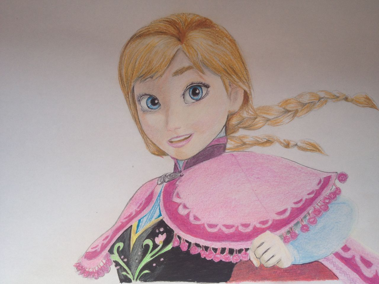 رسمتي ل ANNA من فيلم FROZEN الشهير ( صورة+فيديو ) IMG_8980