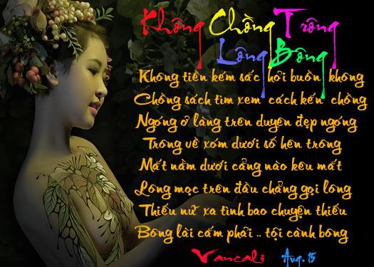 THƠ KHOÁN THỦ VĨ NGÂM HẠN VẬN KHÔNG CHỒNG TRÔNG LÔNG BÔNG  Khong_chong_trong_bong_long