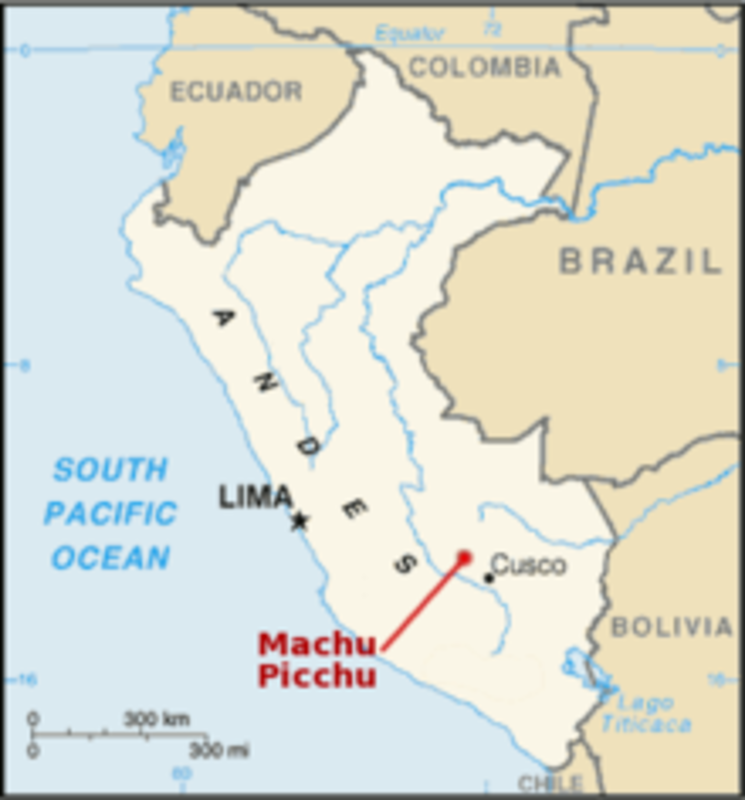 MONEDA UN NUEVO SOL DE PERU (2011) -MACHU PICCHU Mapa_Machu_Picchu