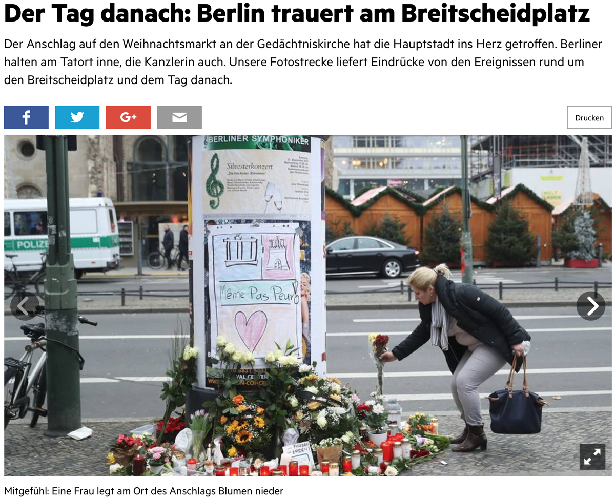 """Truck Attack – """"Anschlag"""" in Berliner Weihnachtsmarkt B008"""