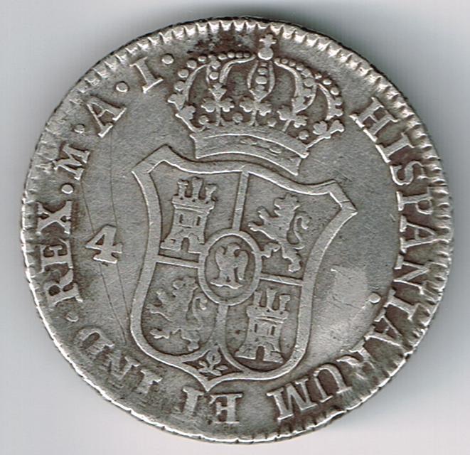 4 Reales 1811 José Bonaparte Moneda01012014