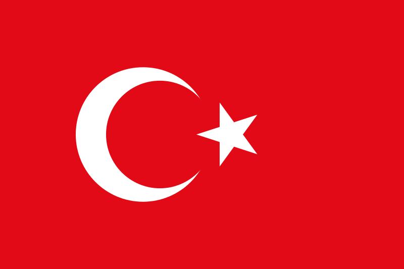1000 Yen (Olimpiadas 64). Japón. 1964  - Página 2 800px_Flag_of_Turkey_svg