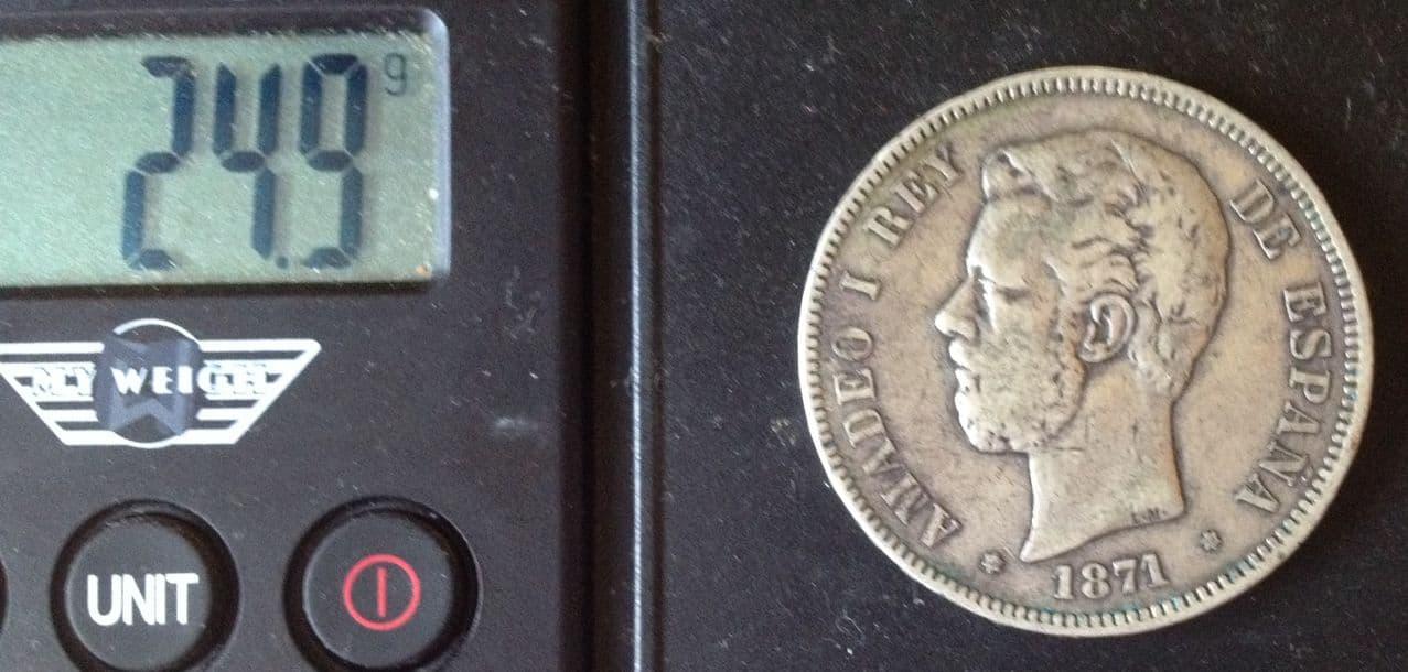 5 pesetas 1871 *73 - Amadeo I - La moneda de la discordia IMG_5892
